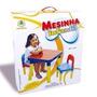 Mesa Infantil Desmontável Com 2 Cadeiras Porta Objetos 50x50