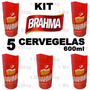 Kit 5 Cervegela Brahma 600ml Isopor Camisinha Suporte Termic