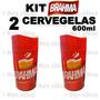 Kit 2 Cervegela Brahma 600ml Isopor Camisinha Suporte Termic