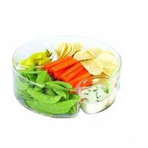 Petisqueira C/3 Divisórias De Vidro P/doces,saladas Sn120