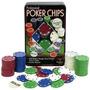 100 Fichas Poker Lata Roleta Dinheiro Cassino + Baralhos.