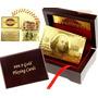 Cartas De Baralho Poker Ouro 24k Karat - Caixa E Certificado