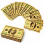 Baralho Dourado Folheado Ouro 24k Poker Truco Cartas Jogos