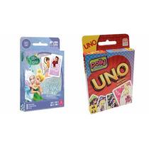 Coleção 1 Jogo Uno Polly E 1 Jogo Rouba Monte Tinker Bell