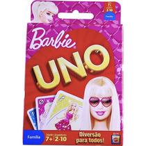 Jogo Uno Barbie Mattel
