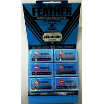 Lâmina De Barbear Feather ( Gilete ) 60 Unidades