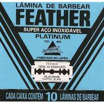 Lamina Barbear Feather Platinum Caixa Com 1.020 Unidades