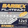Lamina De Barbear Barbex Platinum 5 Cartelas Com 60 Unidades