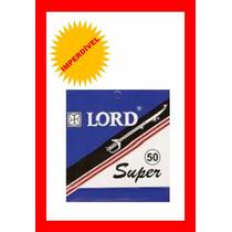 ( Gilete ) Lord Inox Cartela C/50 Lâminas