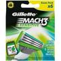 Carga Gillette Mach3 Sensitive Com 6 Unidades