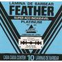 Lamina De Barbear Feather Platinum 10 Cartelas Com 60 Unid