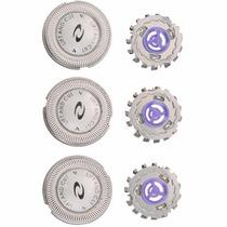 Lâminas De Reposição P/ Philips Hq3, Hq4, Hq50, Hq55, Hq56