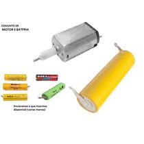 Bateria E Motor 1.2v Maquina Aparador Panasonic E Outros 389