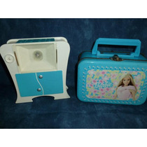 Maleta De Lata + Aparelho De Rx Da Barbie- Antigos Mattel.