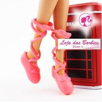Sapatilhas Bailarina Para Barbie * Ballet Sapatinho * Rosa