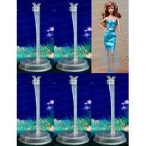Lote Com 5 Suportes Para Boneca Barbie Ken * Model Muse