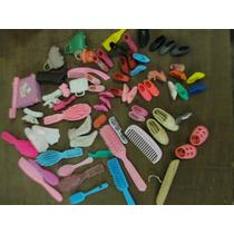 Barbie - Sapatos, Escovas, Maleta E Outros Lote