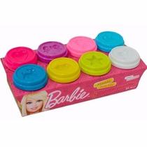Massinha 8 Potes C/50g Cada Molde Na Tampa- Barbie - Fun !!!