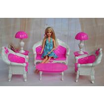 Sala De Estar Completa * Para Boneca Barbie * Sofá