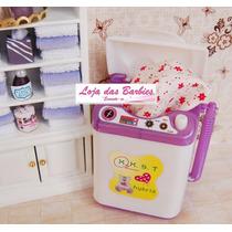 Máquina De Lavar Roupas Para Boneca Kelly ( Barbie ) !