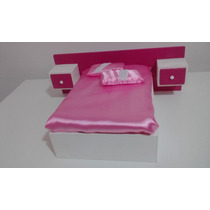 Mini Cama De Casal (exclusiva) Esc. 1/6 ( Mini Sonho) Barbie