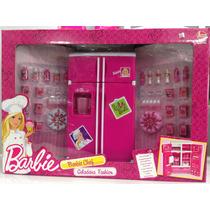 Geladeira Fashion Da Barbie 30cm A X 19cm L - Barbie Chef