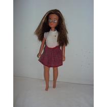 Boneca Antiga Barbie Susi Morena Da Estrela S.a. 28cm