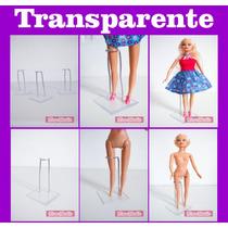 Kit 10 Suportes Acrílico Para Deixar Bonecas Em Pé, Barbie