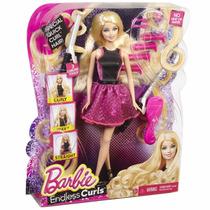 Boneca Barbie Cabelos Cacheados E Lisos Original - Mattel