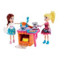 Boneca Polly Pocket 2 Amigas Dia Divertido Cozinha Menina