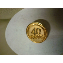 Lindo Pin Broche Barbie 40 Anos Original Novo 2,5cm Mattel