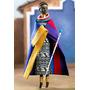 Boneca Barbie Negra Dolls Of The World Princesa Africa Rara