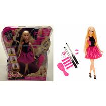 Boneca Barbie Cabelos Cacheados Acessórios Original Mattel