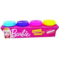 Kit Massinha Barbie C/ 4 Potes 50g - Fun