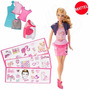 Boneca Barbie Estampa Fashion Mattel Bdb32