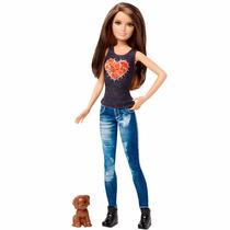 Boneca Barbie - Irmãs Com Pet - Morena - Mattel