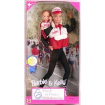 Barbie E Kelly Set March Of Dimes Walking America Antiga 80