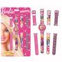 Relógio Troca Pulseiras Infantil 5 Funções Menina Barbie Fun