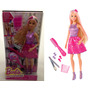 Boneca Barbie Cabelos Longos Mecha Colorida Original Mattel