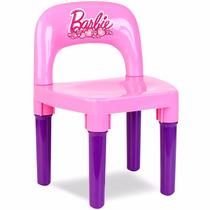 Cadeira Infantil Rosa/lilas Barbie Bb6010 - Fun