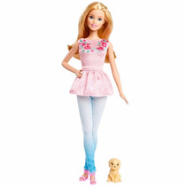 Boneca Barbie - Irmãs Com Pet - Loira - Mattel