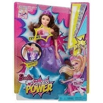 Boneca Barbie Princesa Power / Super Princesa Com Dvd 2015
