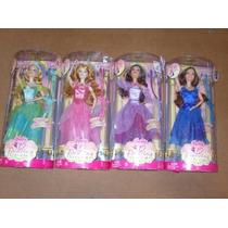 Barbie 12 Princesas Bailarinas - Castelo Carruagem Genevieve