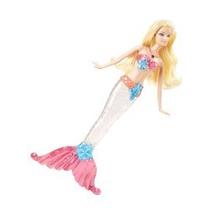Boneca Barbie - Sereias Com Luzes E Sons - Loira - Mattel