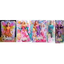 Coleção 5 Bonecas Barbie Portal Secreto - Fada Sereia Princi