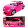 Carro Da Barbie New Beetle Rosa C/ Boneca Original Mattel