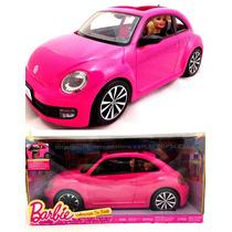 Carro Da Barbie New Beetle Rosa C/ Boneca Original Mattel