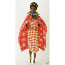 Boneca Barbie Of The World Kenyan Negra 1993 Mattel 11181