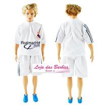 Roupa Jogador Futebol P/ O Boneco Ken ( Barbie ) + Sapato !