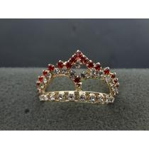 Coroa Barbie / Susi - Strass Crystal Com Vermelho